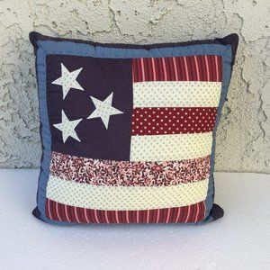 Other - Pillow patch Quilts Patriotic American Flag